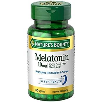 Natures Bounty Melatonin 10mg Capsules 60 ea (Pack of 2)