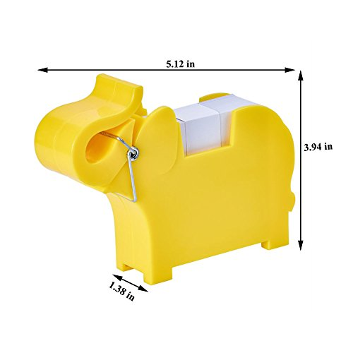 Lzttyee Animal Shape Multi-functional Plastic Memo Holder/Note Dispenser/Desktop Note Pad/Pen Holder with 200 Sheets Memo Pad for Office School Supplies (Elephant Yellow) by Lzttyee (Image #1)