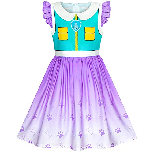 Girls Dress Paw Patrol Everest Costume Halloween Party Size 3