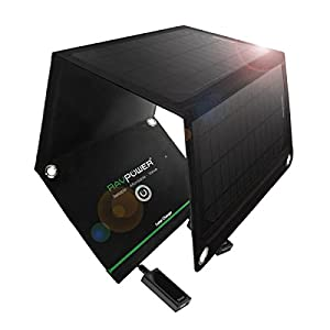 RAVPower ソーラーチャージャー 折りたたみ式 ソーラーパネル RP-SC02
