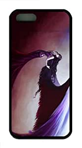 for cheap cases fallen angel artwork TPU Black Case for iphon 5/5S