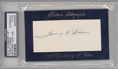 (Tommy O'Brien PSA/DNA Certified Auto AUTHENTICATED AUTHENTIC #3/6 (Baseball Card) 2010 Historic Autographs Cut Autographs