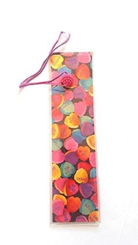 School Bible Book Markers 8 Handmade Vinyl Cotton Patterns May Vary (Valentine Hearts(Beads Patterns May Vary))