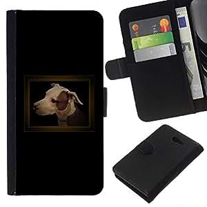 All Phone Most Case / Oferta Especial Cáscara Funda de cuero Monedero Cubierta de proteccion Caso / Wallet Case for Sony Xperia M2 // Small Black Dachshund Puppy Dog