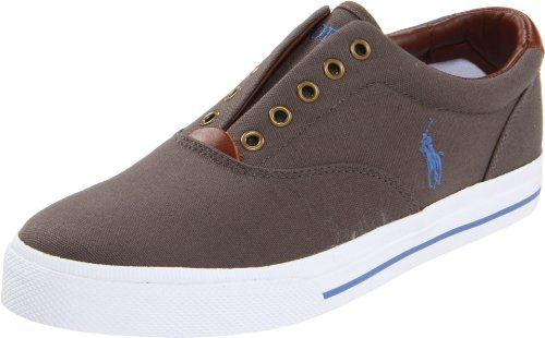 Polo Ralph Lauren Men's Vito, Grey, 8.5 M US (Ralph Lauren Slip Auf)