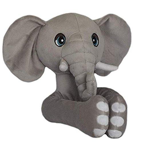 Curtain Critters ALGYEL060809SGL Plush Safari Grey Elephant Curtain Tieback Toy from Curtain Critters