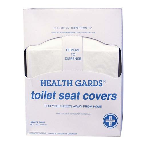Hospeco Health Gards HG-QTR-5M Quarter-Fold Toilet Seat Covers (25 Packs of 200) (Quarter 25)