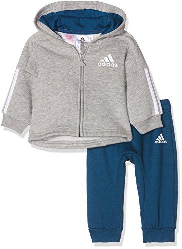Adidas Tracksuit Boy blunit Fleece Jogginganzug bianco Mgreyh 17w1v0q