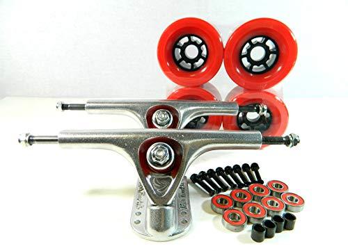 Good Skateboard Paris 180Mm Longboard Trucks + Blank 90Mm Pro Flywheels + Free Bearings Hardware