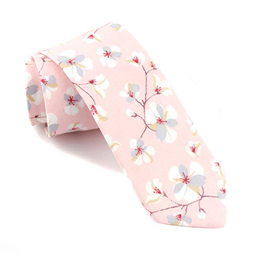 Mens Womens Fashion Style Designer Inspired Novelty Tie Pretty Birthday Gifts Blush Pink ()
