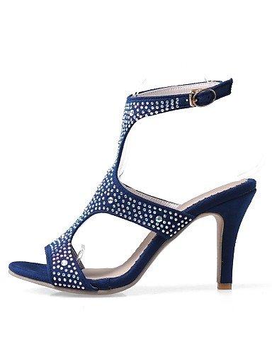 LFNLYX Zapatos de mujer-Tacón Stiletto-Tacones / Talón Descubierto / Punta Abierta-Sandalias-Vestido / Fiesta y Noche-Semicuero-Negro / Azul / Purple
