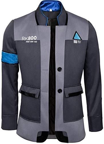 NSOKing Hot Anime Game Become Human Cosplay Jacket Kara Connor Costume Coat (XXX-Large, Gray)