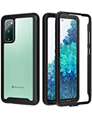 seacosmo Samsung S20 FE Case 5G (2020), [with Built-in Screen Protector] Full-Body Rugged Dual-Layer Shockproof Protective Cases Cover for Samsung Galaxy S20 FE 6.5-Inch,Black