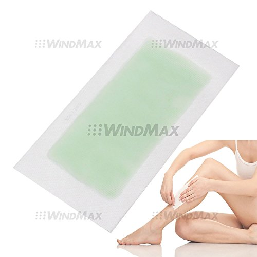 Aloe Vera Double Side Cold Wax Hair Removal Strips Paper Spa Skin Care for Leg Body Facial Hair (10 Pieces)