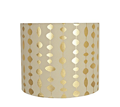 Gold Drum Shade - Aspen Creative 31097 Spider Construction Lamp Shade, 12
