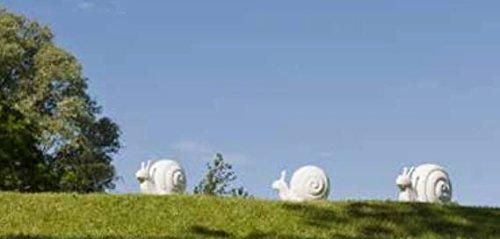 Fiberstone Dekoartikel Schnecke, sonnen-und regenbeständig für Innen und Außen, Farbe Weiß glänzend, 51x30x36cm