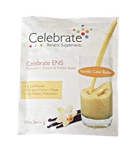 Celebrate Essential Multi 4 in 1 Multivitamin Calcium and Protein Shake - Vanilla Cake Batter - 15 Single Serve (Essential Protein Vanilla Cake)