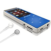 MP3 Music Player with FM Radio, 2017 Dansrue Lossless Movie MP3 Player Metal Touch Screen for Running (Blue(Non-Bluetooth))