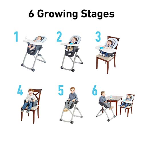 412gf9ScFKL - Graco DuoDiner DLX 6 In 1 High Chair | Converts To Dining Booster Seat, Youth Stool, And More, Kagen