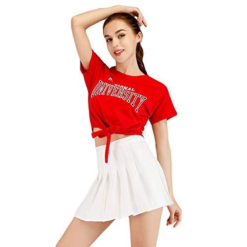 Girls High School Cheerleader Costume Uniform Halloween Fancy Dress Cosplay Costume Women's Musical Cheerleading Outfit 3 XS -