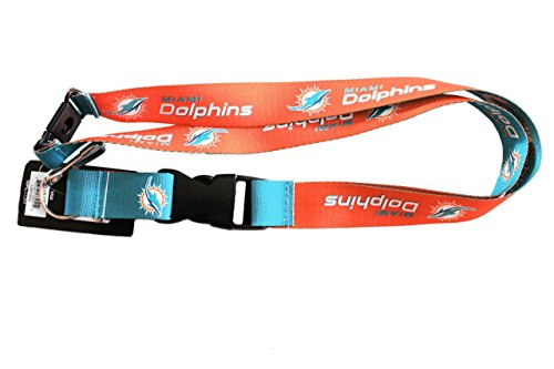 NFL Miami Dolphins Reversible Lanyard, One Size, Multi, One Size, - Shops At Mall Dolphin