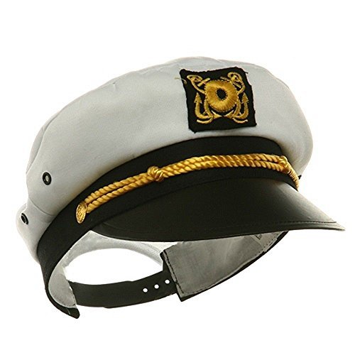 [Child Yacht Captain Hat Ship Navy Officer Sea Skipper Cap Costume Accessory Adjustable] (Ship Captain Costumes)