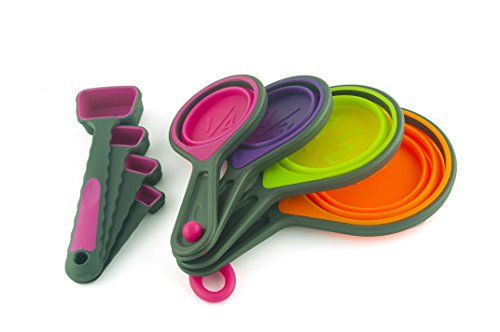 Stacked Nested Silicone Measuring Cups