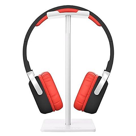 FORTULY Headset Earphone Headphone Stand Hanger Aluminum Holder Display Rack For Gamers DJ Dancer Fit AKG Beats, Bose, Sennheiser, Sony, Audio-Technica and Many Headphones (9 Dj Rack)
