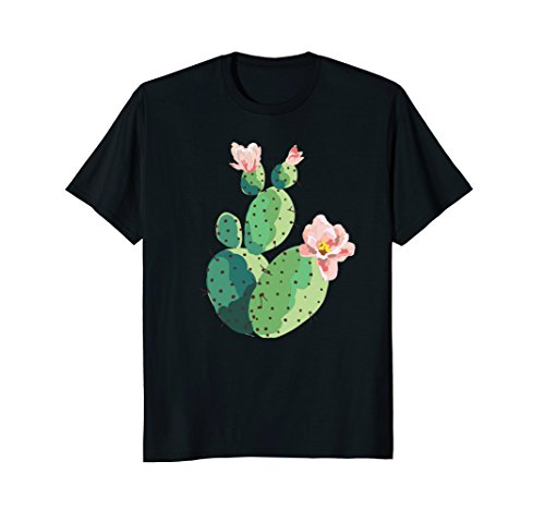 Beautiful Cactus Tree Pink Flowers Hand Drawn Painting - Flowers Trees Pink