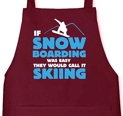 If Snowboarding Was Easy, Wintersport Ski Grillen Barbecue Grill Schürze Kochschürze Latzschürze