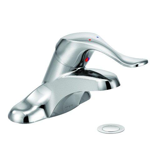 Moen 8420 Commercial M-Bition 4-Inch Centerset Lavatory Faucet with Drain 1.5 gpm, Chrome