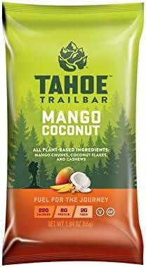 Tahoe Trail Bar - Energy Bar - Mango Coconut (1.94 Ounce Protein Bar, 12 Count)