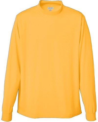 Team Color Mock Turtleneck - Augusta Sportswear Boys Wicking Mock Turtleneck, Gold, Medium
