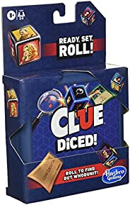 Hasbro Gaming Clue Diced Game, Easy to Learn Game, Quick Game, Portable Travel Game, Travel Game, Family Board