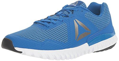 Reebok Men's Twistform Blaze 3.0 MTM Running Shoe, Awesome Brave Blue/White/Black/Pewter, 8 M US