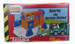 Tonka Lil' Chuck & Friends Sparky the Service Station Playset with Boomer the Tow Truck