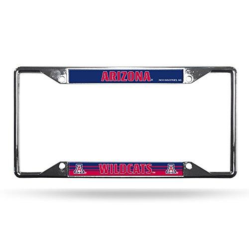 (Rico Industries NCAA Arizona Wildcats Easy View Chrome License Plate Frame)