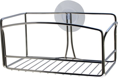 Griipa 3842 Polished Steel Shower Basket, Suction Mounted
