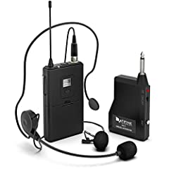 FEATURES 1. UHF(Ultra-High-Frequency) band has powerful and reliable signal. The valid distance is over 15m.line of sight 2. There are 20 frequency points can be transformed freely, no worry about frequency interference. 3. High-quality micro...