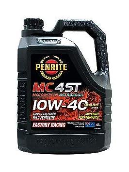 Penrite MC-4 ST 100% PAO Ester 10W-40 - Aceite para Motocicleta de 4 Tiempos (4 L): Amazon.es: Coche y moto