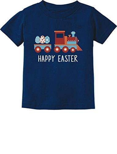 Easter Egg Hunt Kids Gift Happy Easter Train Toddler/Infant Kids T-Shirt 2T Navy
