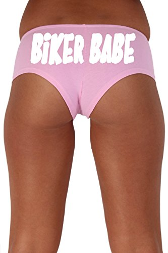 [Women's Juniors White Biker Babe Booty Shorts: LIGHT PINK XL] (Biker Babe Costume)