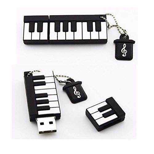 USB Flash Drive Memory Stick with U Disk Thumb Pen USB2.0 Cartoon Mini Piano Simulation Musical Instrument 4/8/16/32/64/128GB (32GB)
