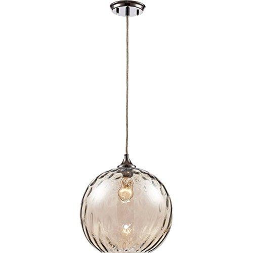 Trans Globe Lighting Riverstone Polished Chrome One-Light Mini Pendant (Pendant Riverstone)