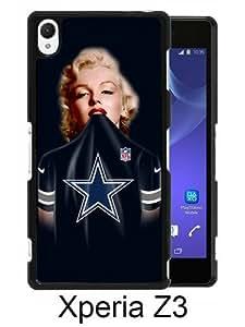 Dallas Cowboys 38 Black Abstract Custom Design Sony Xperia Z3 Protective Phone Case
