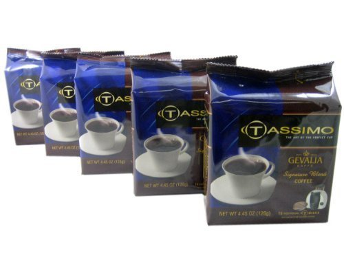 Tassimo T-Disk: Gevalia Signature Blend Coffee T-Disc Pods(Pack of 5) by Tassimo by Tassimo