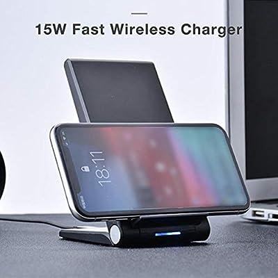 Qi - Cargador inalámbrico rápido de 15 W para cámara 20 LG V30 V40 ...