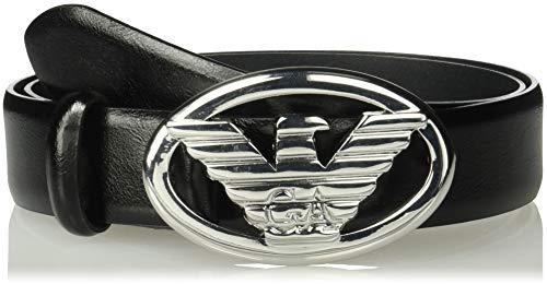 Emporio Armani Women's Eco Leather Tongue Belt, Black, 90 from Emporio Armani