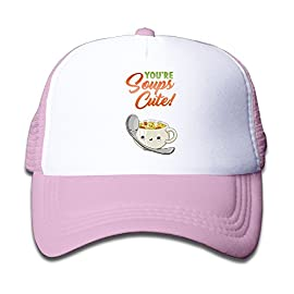 Joijiouio-Youre-Soup-So-Cute-Childrens-Sun-Protection-UnisexAdjustable-Mesh-Back-Cap-Pink