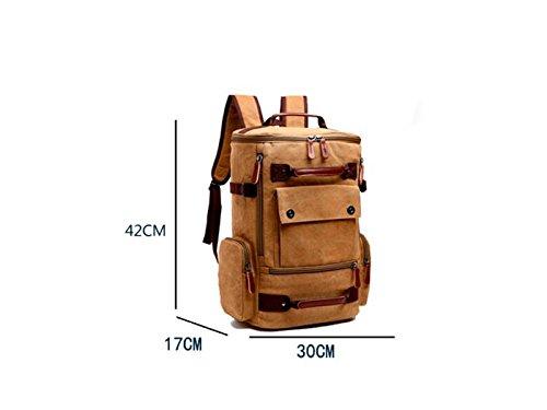 OHlive Grosse Kapazität Mehrzweck Mehrzweck Mehrzweck Leinwand Rucksack Männer große Kapazität Reisetasche Bergsteigen Taschen (schwarz) B07KXNLWGJ   Hochwertige Produkte  878141